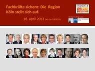 Fachkräfte sichern: Die Region Köln stellt sich auf.