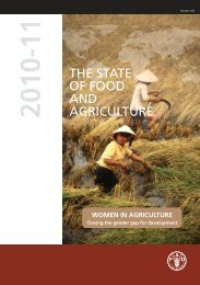 The State of Food and Agriculture 2010-11: Women in ... - FAO