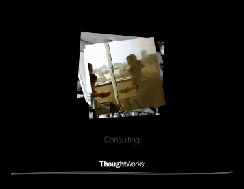 Consulting - ThoughtWorks