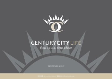 01 November 2009 Newsletter - Century City
