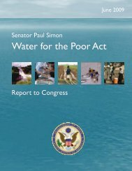 Senator Paul Simon Water for the Poor Act - Environmental Health at ...