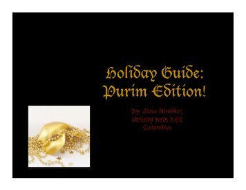 Holiday Guide: Purim Edition!