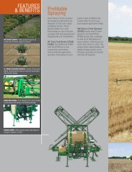 Profitable Spraying FEATURES & BENEFITS - Great Plains ...