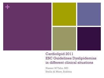 ESC Guidelines 2011 Dyslipidemias
