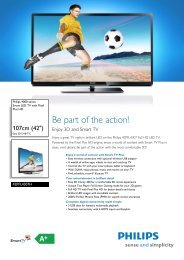 42PFL4307H/12 Philips Smart LED TV with Pixel Plus HD
