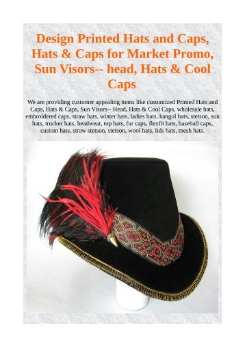 Design Printed Hats and Caps 3bcc94e50a9b
