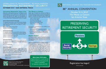 preserving retirement security - National Council on Teacher ...