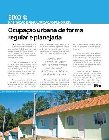 Ocupação urbana de forma regular e planejada EIXO 4: - Prefeitura ...