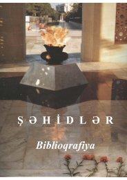 Şəhidlər. Biblioqrafiya - Azərbaycan Milli Kitabxanası
