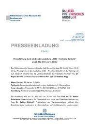 Pressemitteilung des Militärhistorischen Museums der Bundeswehr ...