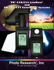 PR-520/PR-524 Brochure - Photo Research, Inc.