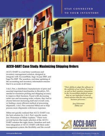 ACCU-DART Case Study: Maximizing Shipping Orders