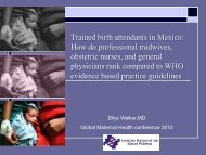 Trained birth attendants in Mexico: How do professional midwives ...