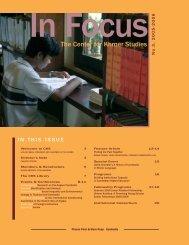In focus 2005-2006.qxd - Center for Khmer Studies
