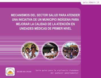 Mecanismos del Sector Salud para atender una iniciativa