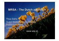 Thea Daha Dutch Working Party Infection Prevention ... - ISSA.com