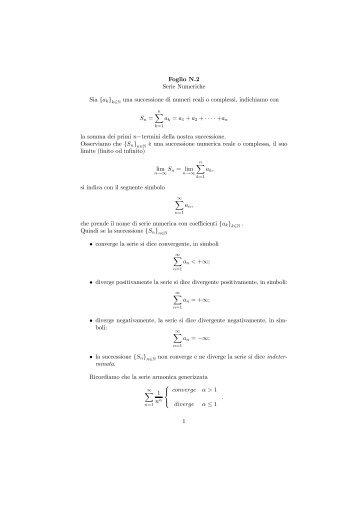 SUCCESSION E SERIE NUMERICHE PDF