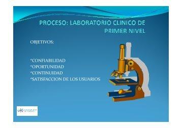 PROCESO LABORATORIO CLINICO - Colombiana de Salud