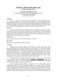 MODELY HROMADNÉ OBSLUHY - Vysoká škola logistiky ops
