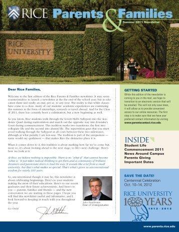 INSIDE{ - Rice University
