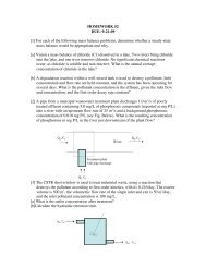 HOMEWORK #2 DUE: 9-21-09 [1] For each of the following mass ...