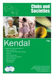 Clubs and Societies in Kendal - South Lakeland District Council