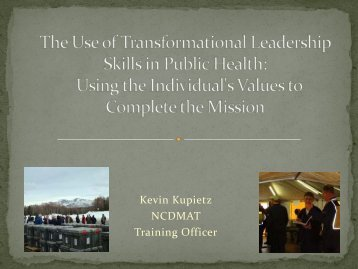 The Use of Transformational Leadership Skills in Public Health ...