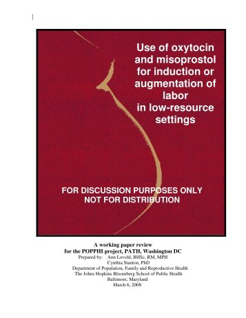 Use of oxytocin and misoprostol for induction or ... - POPPHI