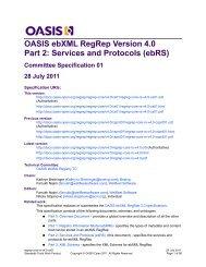 OASIS ebXML RegRep Version 4.0 Part 2 - docs oasis open - Oasis
