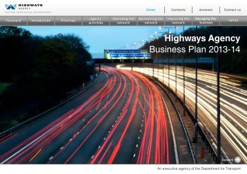 Highways Agency Business Plan 2013-14