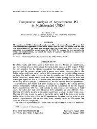 Comparative Analysis of Asynchronous I/O in Multithreaded UNIX