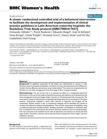 Cluster Randomized Trial - an overview | ScienceDirect Topics