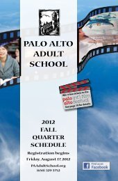 Download Course Schedule - Palo Alto Adult School
