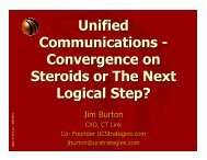 UC Convergence on Steroids--Welcome ... - UCStrategies.com