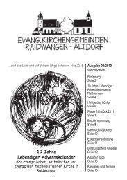 10 Jahre Lebendiger Adventskalender - Evangelische ...
