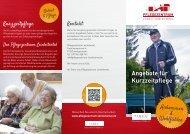 Angebote für Kurzzeitpflege - Baptisten Bayern