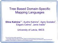 Tree Based Domain-Specific Mapping Languages