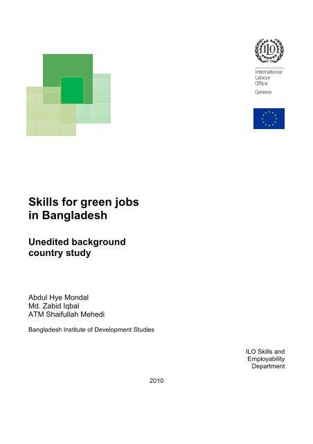 Skills for green jobs in Bangladesh - International Labour Organization