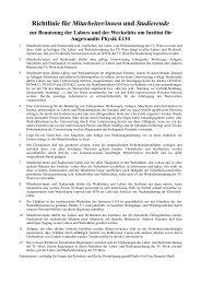 Richtlinie für Mitarbeiter/innen und Studierende