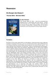 Rezension Die Burgen des Elsass II