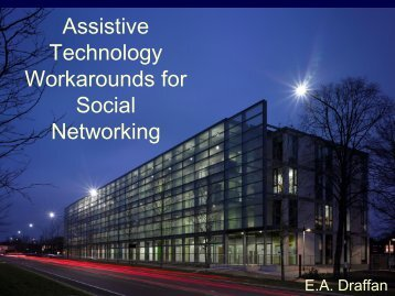 Assistive Technology in Higher Education UK style - the RAatE ...