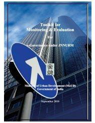 M&E Guidelines - JnNURM