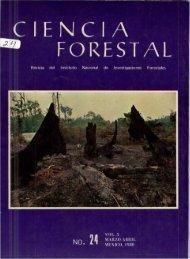 Vol. 5 Num. 24 - Instituto Nacional de Investigaciones Forestales ...