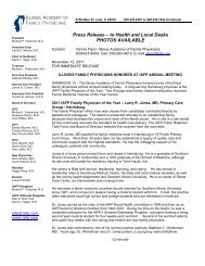 Press Release – to Health and Local Desks PHOTOS AVAILABLE