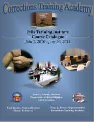 Jails Training Institute Course Catalogue July 1, 2010 - Ohio ...