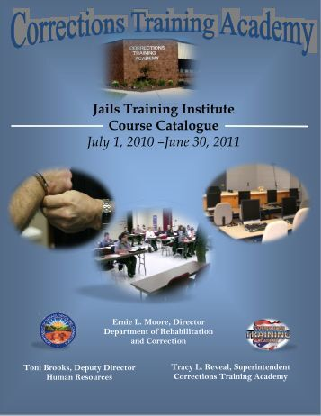 Jails Training Institute Course Catalogue July 1, 2010 - Ohio ...