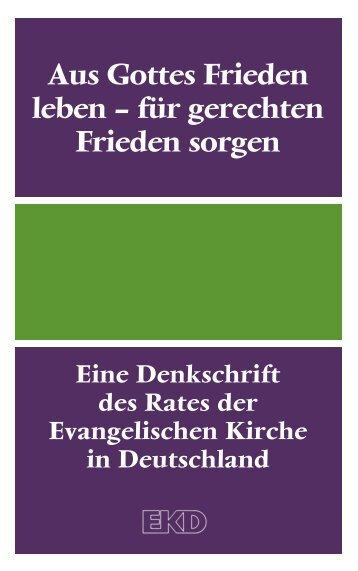 """""""Aus Gottes Frieden leben – für gerechten Frieden sorgen"""" als pdf"""
