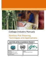 Cottage Industry Manuals Bamboo Mat Weaving Techniques and ...