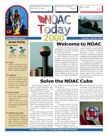 Solve the NOAC Cube Welcome to NOAC - National Order of the ...