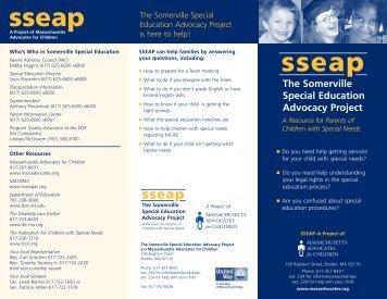 The Somerville Special Education Advocacy Project